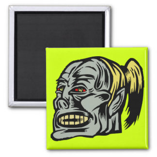 zombie girl 2 inch square magnet