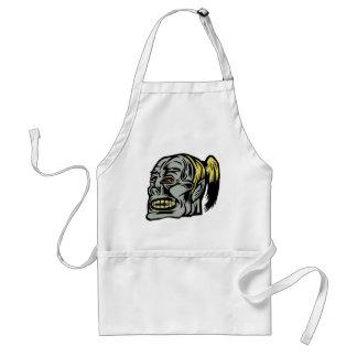 zombie girl adult apron