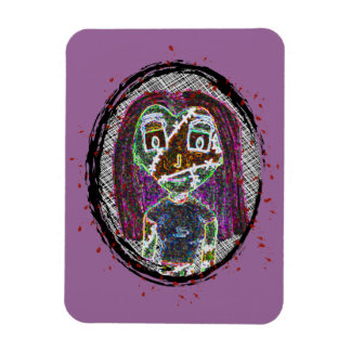 Zombie Girl Cameo Magnet