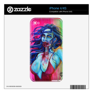 Zombie Girl - Cell Phone Skin Decal For iPhone 4