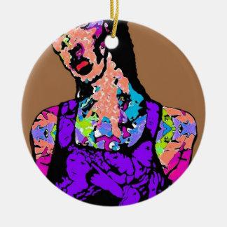 Zombie Girl Ceramic Ornament
