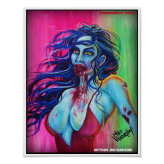 Zombie Girl - Color Print