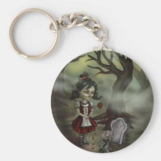Zombie Girl Finds True Love in a Graveyard Basic Round Button Keychain