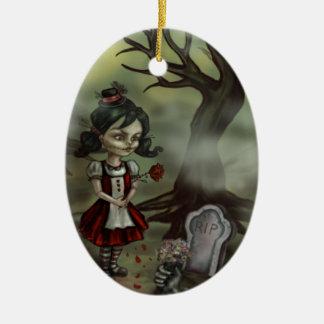 Zombie Girl Finds True Love in a Graveyard Ceramic Ornament