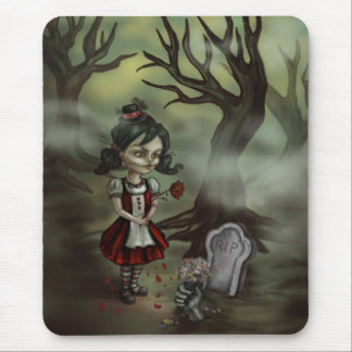 Zombie Girl Finds True Love in a Graveyard Mouse Pad