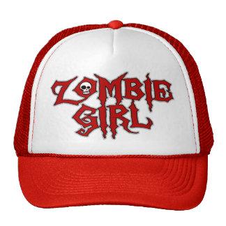 Zombie Girl Trucker Hats