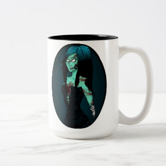Zombie Girl in Corset Mug