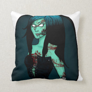 Zombie Girl in Corset Pillow