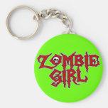 Zombie Girl Key Chains