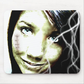 Zombie Girl Lightening Bolt Hair and Flesh Wound Mouse Pad