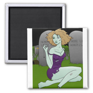 zombie girl magnet
