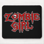 Zombie Girl Mouse Pad