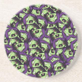 Zombie Girl Pattern Sandstone Coasters