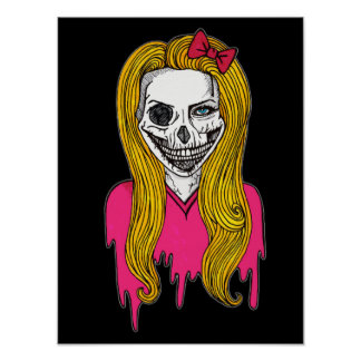 Zombie Girl Poster