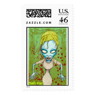 Zombie Girl Stamp