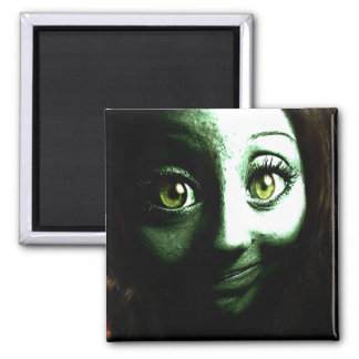 Zombie Girl Teenager with BIG eyes Refrigerator Magnet