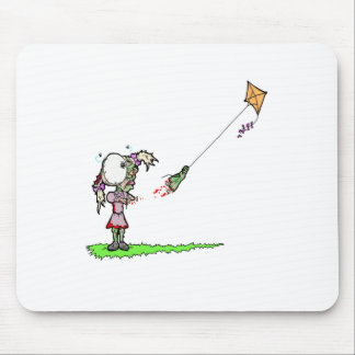 Zombie Girl with Kite Mouse Pad