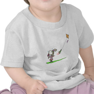 Zombie Girl with Kite Tshirts