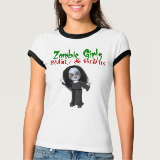 Zombie Girls Beauty & Brains T-Shirt