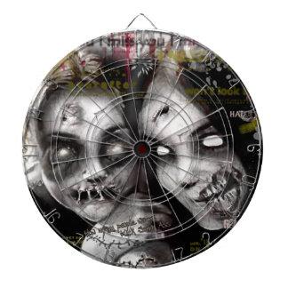 zombie girls dartboard with darts