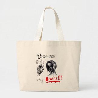 Zombie Girls Love My Brains Jumbo Tote Bag
