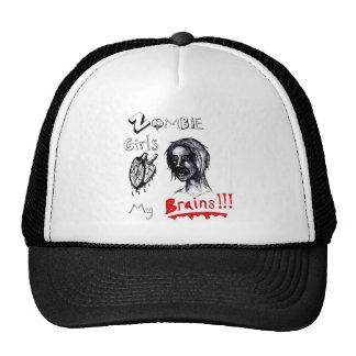 Zombie Girls Love My Brains Trucker Hat
