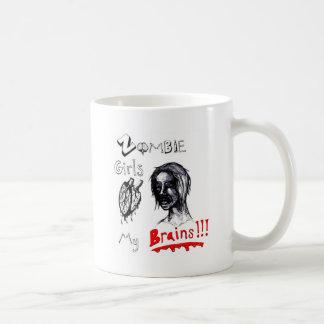 Zombie Girls Love My Brains Classic White Coffee Mug