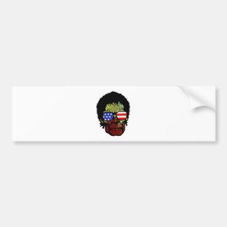 zombie glasses bumper sticker