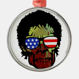 zombie glasses metal ornament