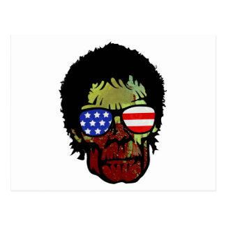 zombie glasses postcard