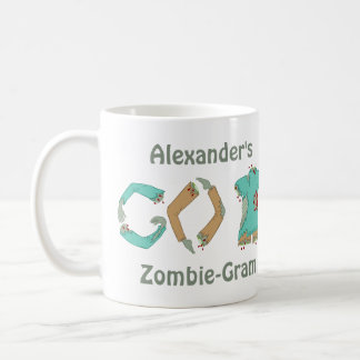 Zombie GO BACK Funny Geek Style Add Your Name Coffee Mug