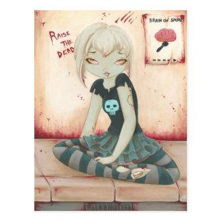 ZOMBIE GOTH girl brain sweet Postcards
