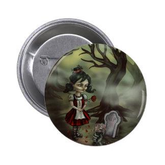 Zombie Graveyard Girl 2 Inch Round Button