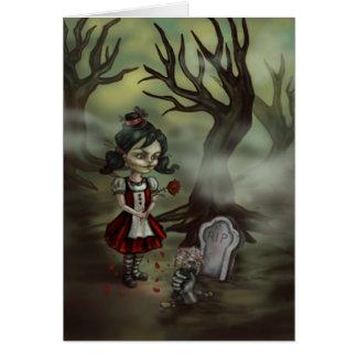 Zombie Graveyard Girl Card