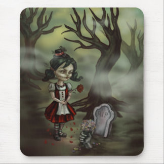 Zombie Graveyard Girl Mouse Pads