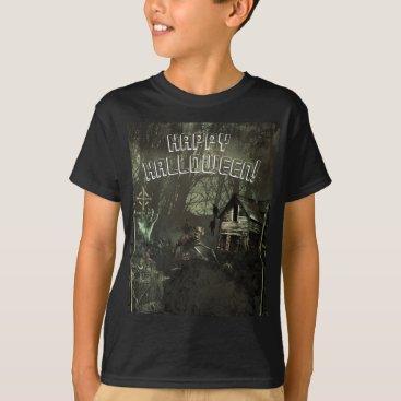 Halloween Themed Zombie Graveyard Horror Scary Custom Halloween T-Shirt