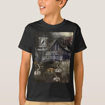 Halloween Themed Zombie Graveyard   Rats Sinister Ave Halloween T-Shirt