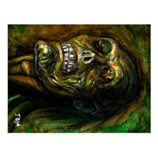 ZOMBIE GREEN FULL ARTWORK POSTCARD