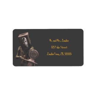 Zombie Guard - Halloween Labels