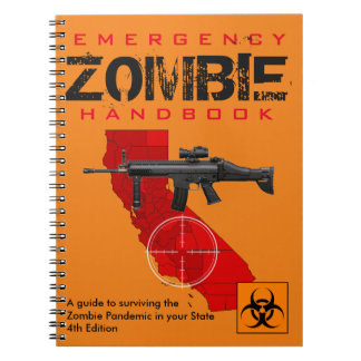 Zombie guide spiral notebooks