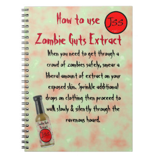 Zombie Guts Extract Satire Notebook