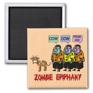 Zombie Halloween 2 Inch Square Magnet