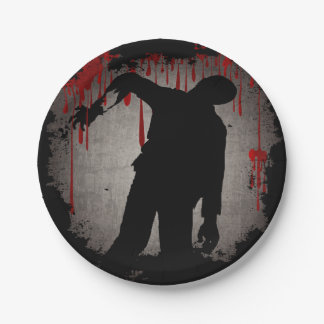 Zombie Halloween 7 Inch Paper Plate