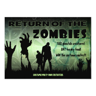 Zombie Halloween Apocalypse Movie Poster Invite