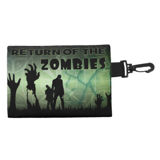 Zombie Halloween Apocalypse Tv Test Screen Art Accessory Bag