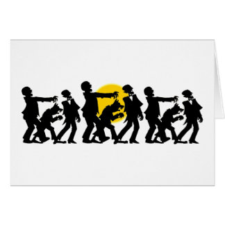 Zombie Halloween Greeting Card