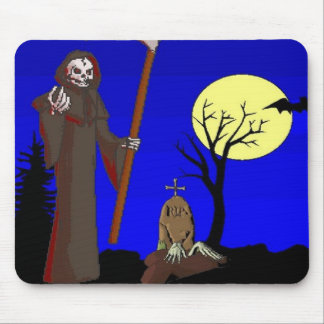 Zombie Halloween Graveyard Mouse Pad