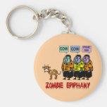 Zombie Halloween Key Chain