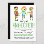 """Zombie Halloween kid birthday party invitation<br><div class=""""desc"""">Zombie Halloween kid birthday party invitation  Perfect zombie theme birthday party invitation for any kid party. Change the text to fit your birthday</div>"""