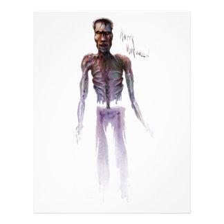 Zombie Halloween Letterhead Design